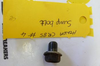 HONDA CR85 BIG WHEEL. OIL SUMP DRAIN BOLT #4 (CON-A)